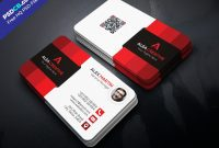 Template Ideas Download Free Modern Business Card Psd Set Red within Photoshop Business Card Template With Bleed