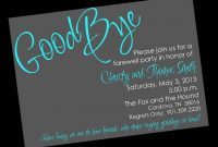 Template Ideas Farewell Invitation Beautiful Free Party Email with regard to Farewell Card Template Word