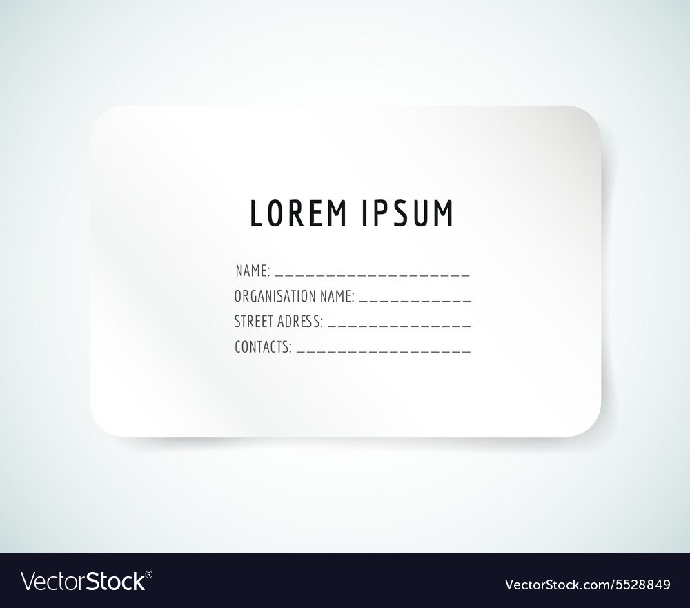 Template Ideas Form Blank Business Card Paper And Vector In Blank Business Card Template Download