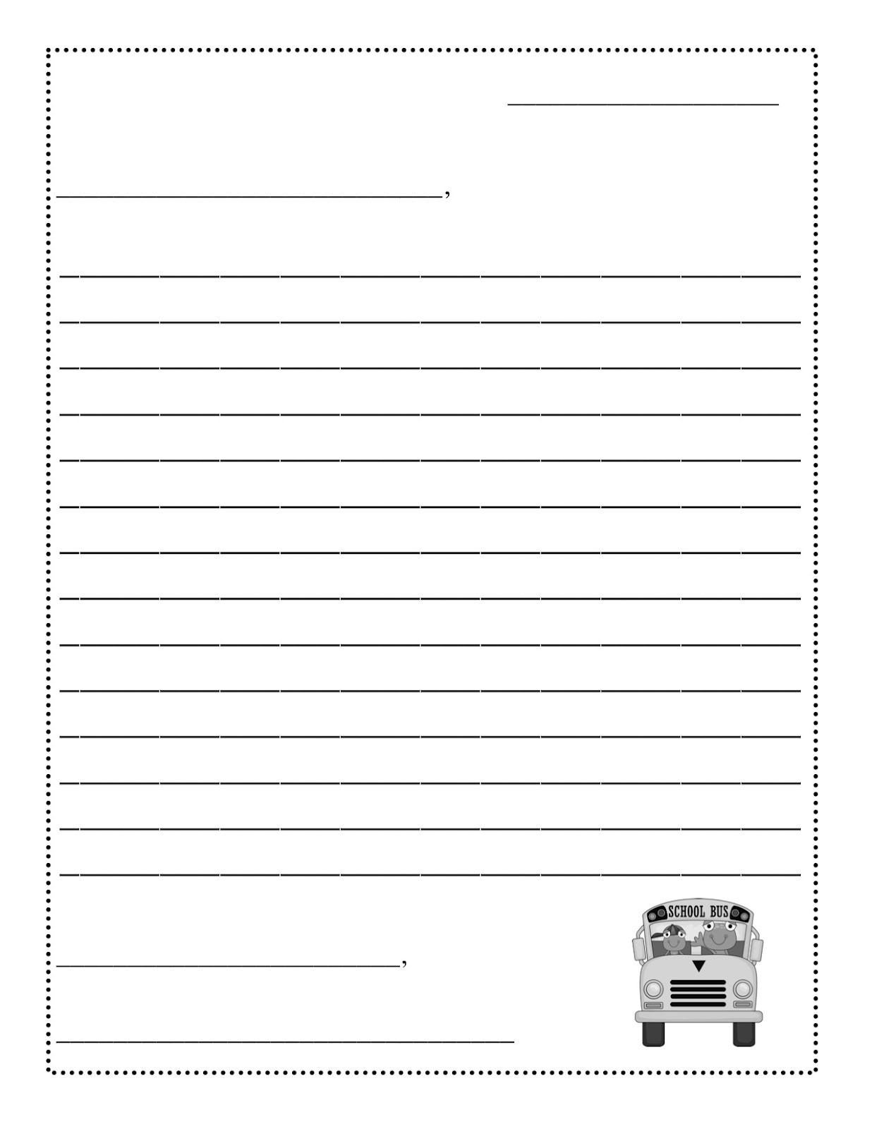 Template Ideas Free Letter Writing Blank Forudents Valid Pertaining To Blank Letter Writing Template For Kids