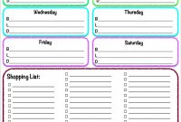 Template Ideas Free Meal Planner Stirring Monthly Excel Grocery intended for Menu Planner With Grocery List Template