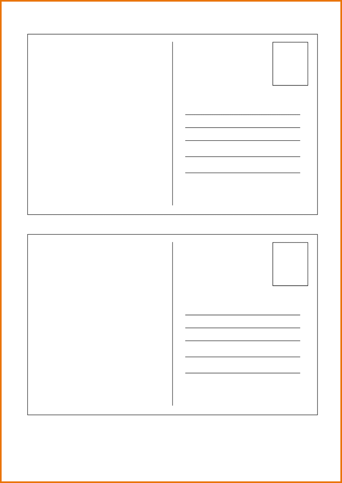 Template Ideas Free Postcard Templates For Word Excellent Intended For Free Blank Postcard Template For Word