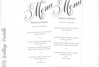 Template Ideas Free Wedding Menu Templates Microsoft Word At Top throughout Free Wedding Menu Template For Word