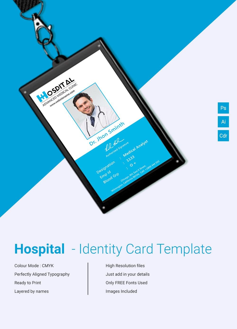 Template Ideas Id Card Free Unbelievable Word Vertical Download Intended For Portrait Id Card Template