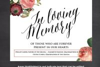 Template Ideas In Loving Memory Templates Free Printable pertaining to In Memory Cards Templates