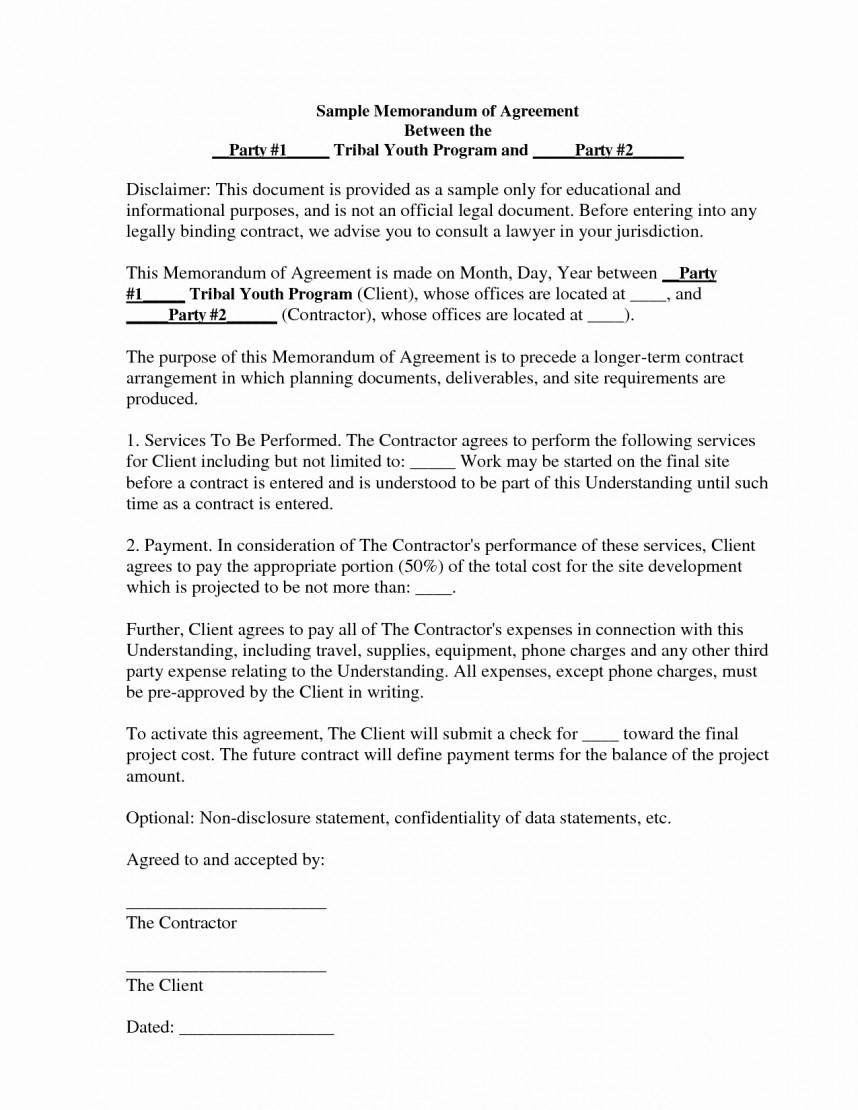 Template Ideas Memorandum Of Agreement Templates Sample Pertaining To Memorandum Of Agreement Template Army