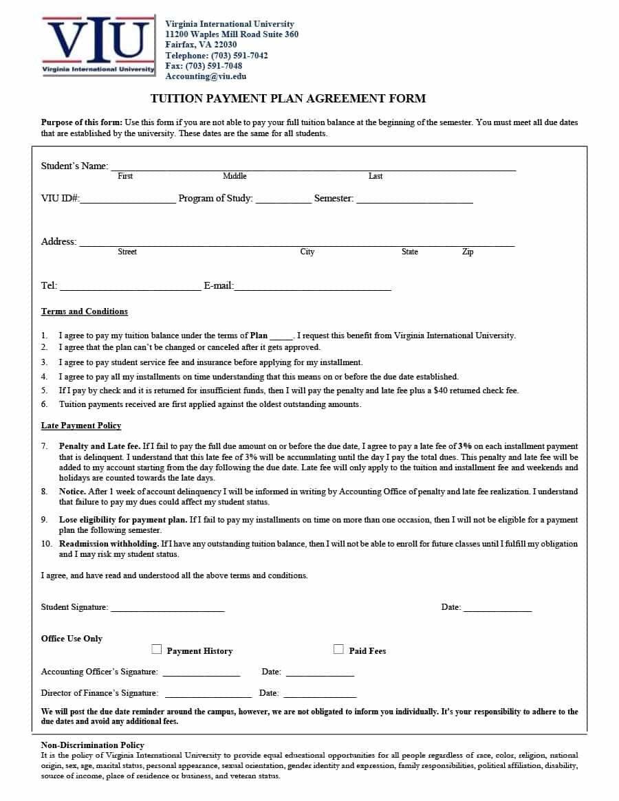 Template Ideas Payment Agreement Astounding Plan Installment Doc Regarding Tuition Agreement Template