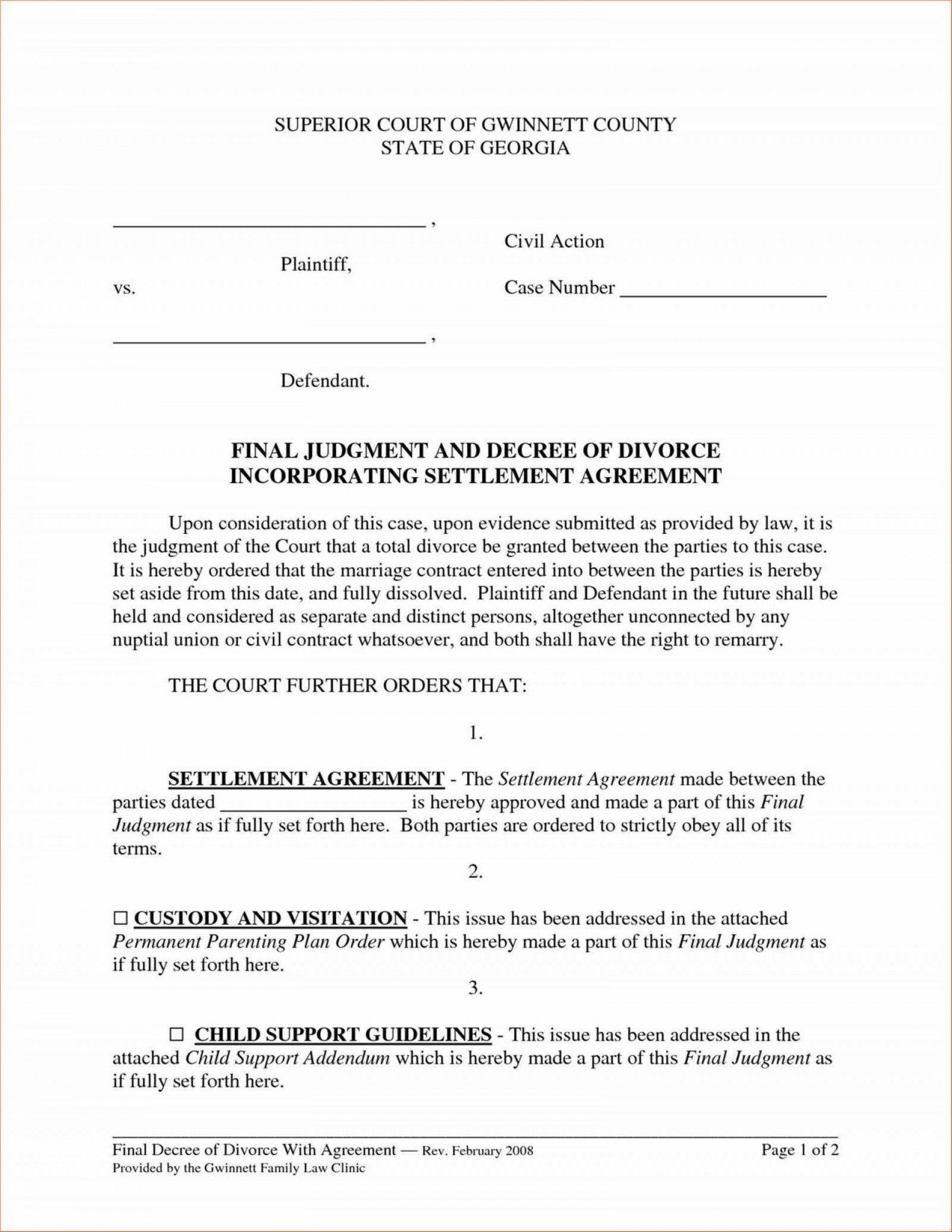 Template Ideas Property Settlement Agreement Divorce Ulyssesroom Regarding Free Divorce Settlement Agreement Template