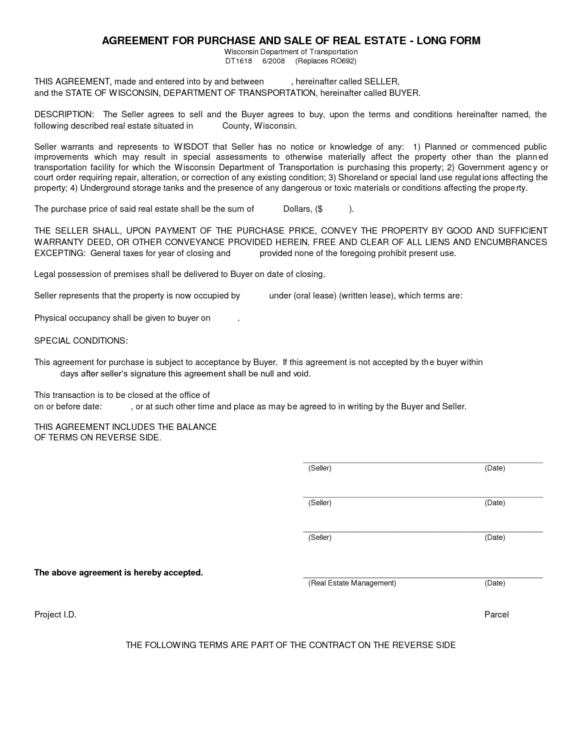 Template Ideas Real Estate Purchase Contract Agreement Free Memo Regarding Free Simple Real Estate Purchase Agreement Template