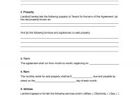 Template Ideas Rental Lease Agreement Templates Free Form Pdf for Free Tenant Lease Agreement Template
