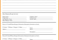 Template Ideas Security Incident Reports Uncategorized Premium for Incident Report Form Template Word