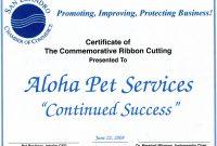 Template Ideas Service Dog Certificate Elegant Best Templates pertaining to Commemorative Certificate Template