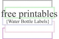 Template Ideas Water Bottle Labels Free Printable Label Wine for Free Water Bottle Label Template Word