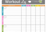 Template Ideas Work Out Schedule Templates Wondrous Workout Plan intended for Blank Workout Schedule Template