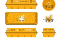 Template Label For Egg Packaging Royalty Free Vector Image for Egg Carton Labels Template