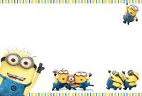 Template Minion Birthday Card  Savethemdctrails intended for Minion Card Template
