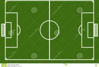 Template Realistic Football Field With Lines And Gates Vector I for Blank Football Field Template