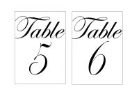 Template Table Number Cards  Savethemdctrails intended for Table Number Cards Template