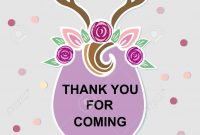 Template With Deer Headband For Party Invitation Baby Shower for Headband Card Template