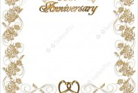 Templates Wedding Anniversary Invitation  Years  Stock pertaining to Template For Anniversary Card