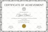 Tennis Achievement Certificate Design Template In Psd Word in Tennis Certificate Template Free