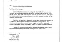 Testimonial Letters  Common Sense Business Solutions with Business Testimonial Template