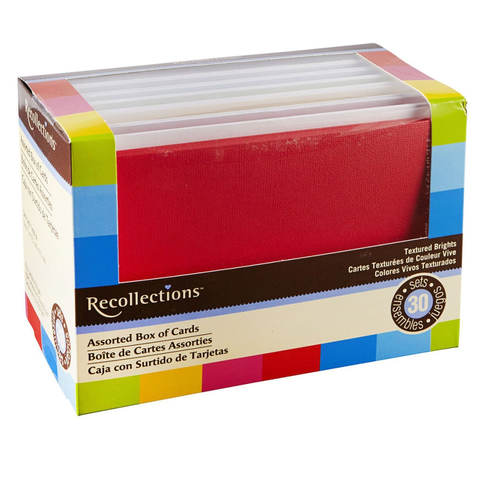 "Textured Brights Box Cardsrecollections® "" X ""  Birthday For Recollections Cards And Envelopes Templates"