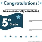 5Th Grade Graduation Certificate Template