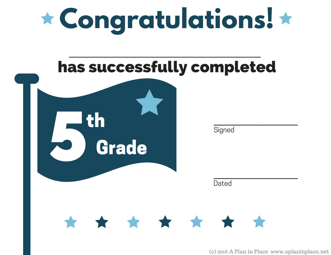Th Grade Graduation Certificate Template  Printable  Mandegar In 5Th Grade Graduation Certificate Template