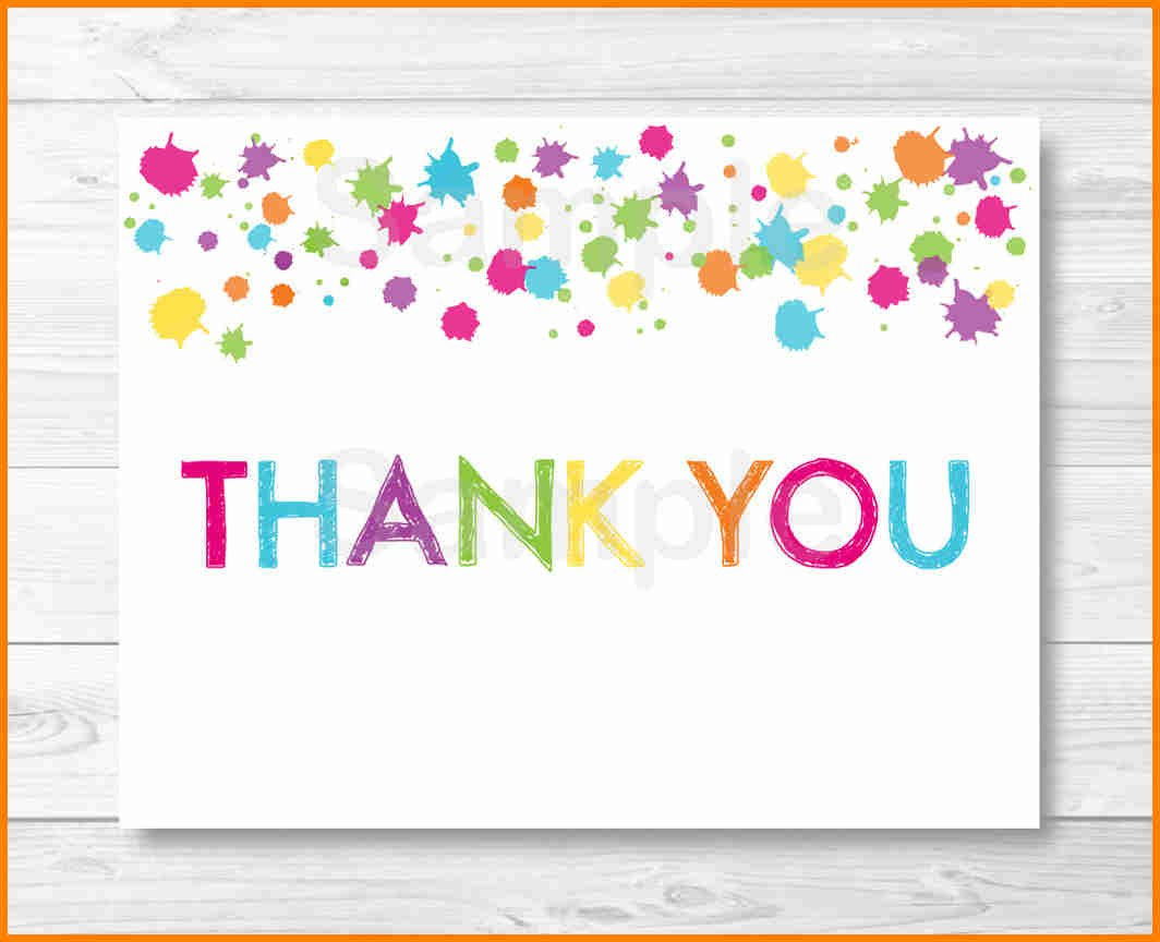 Thank You Templete  Quick Askips For Thank You Note Cards Template