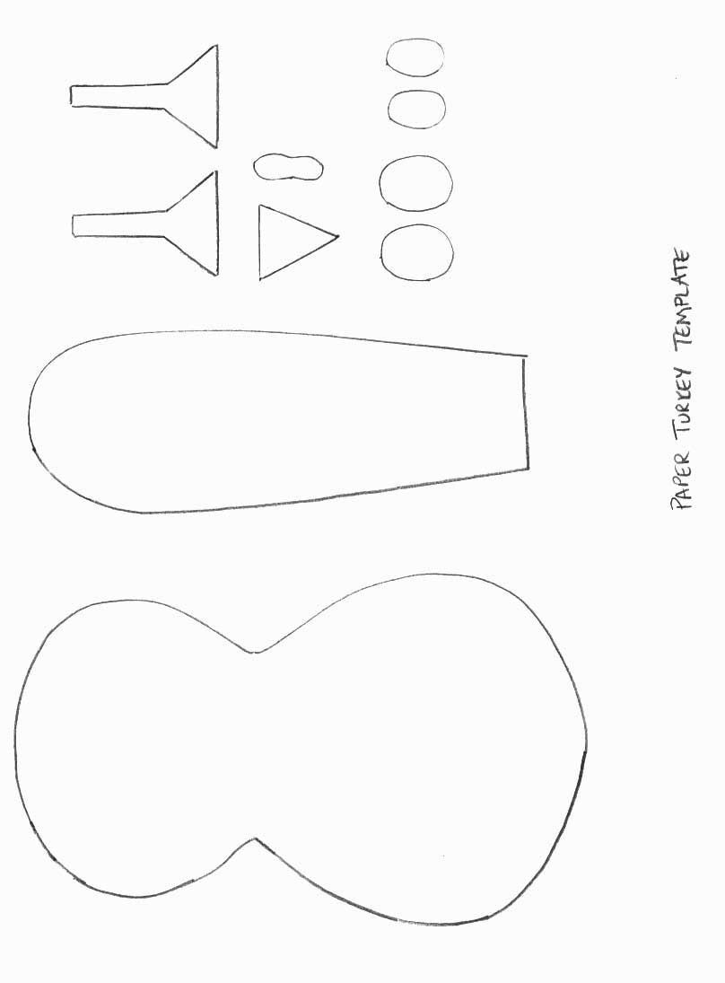 Thanksgiving Crafts  Print Your Paper Turkey Template At Intended For Blank Turkey Template