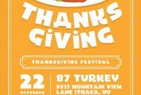 Thanksgiving Day Flyer Thanksgiving Day Flyer  Dinner Menu regarding Thanksgiving Day Menu Template