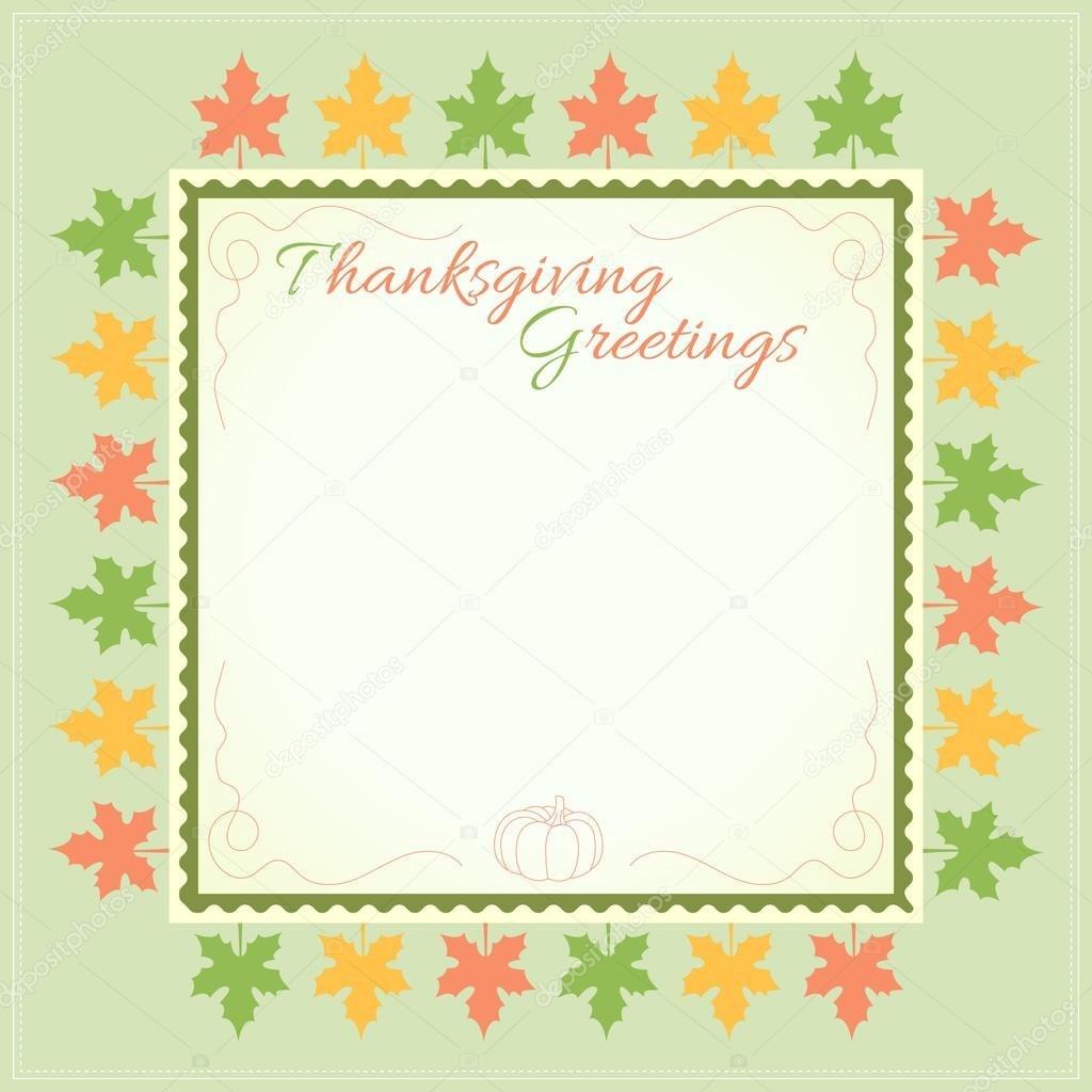 Thanksgiving Day Menu Template — Stock Vector © Beinluck For Thanksgiving Day Menu Template