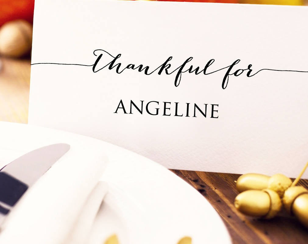 Thanksgiving Place Card Template Seating Cards Template  Etsy Inside Thanksgiving Place Cards Template