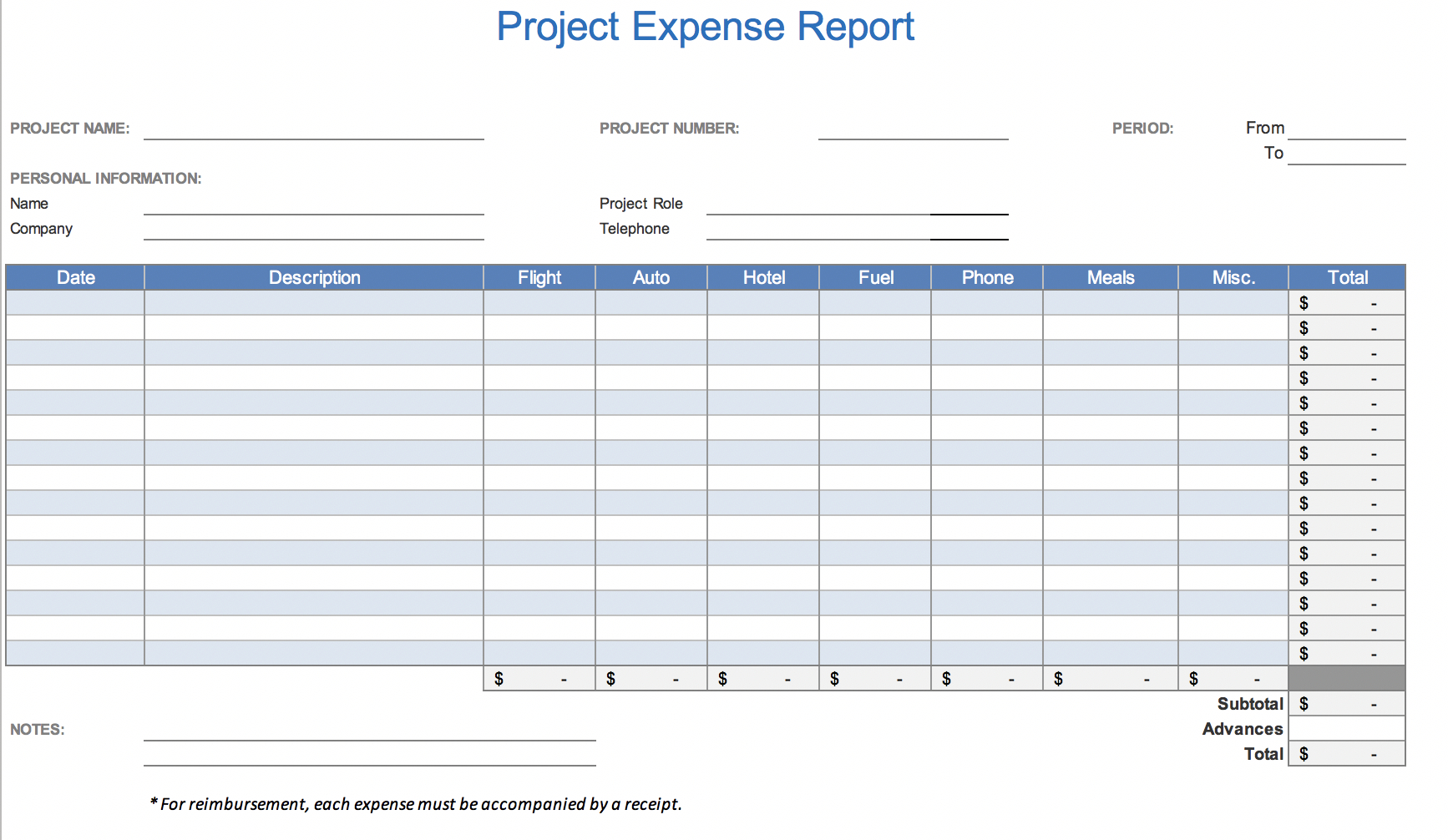 The  Best Expense Report Templates For Microsoft Excel  Teampay In Quarterly Expense Report Template