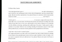 The Complete Guide To Actor Release Forms Free Template with regard to Talent Agency Agreement Template