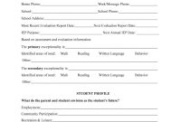 The Iep Form Filled In  Fill Online Printable Fillable Blank regarding Blank Iep Template