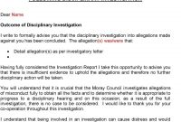 The Moray Council Disciplinary Procedures  Pdf intended for Investigation Report Template Disciplinary Hearing