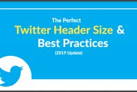 The Perfect Twitter Header Size  Best Practices  Update regarding Twitter Banner Template Psd