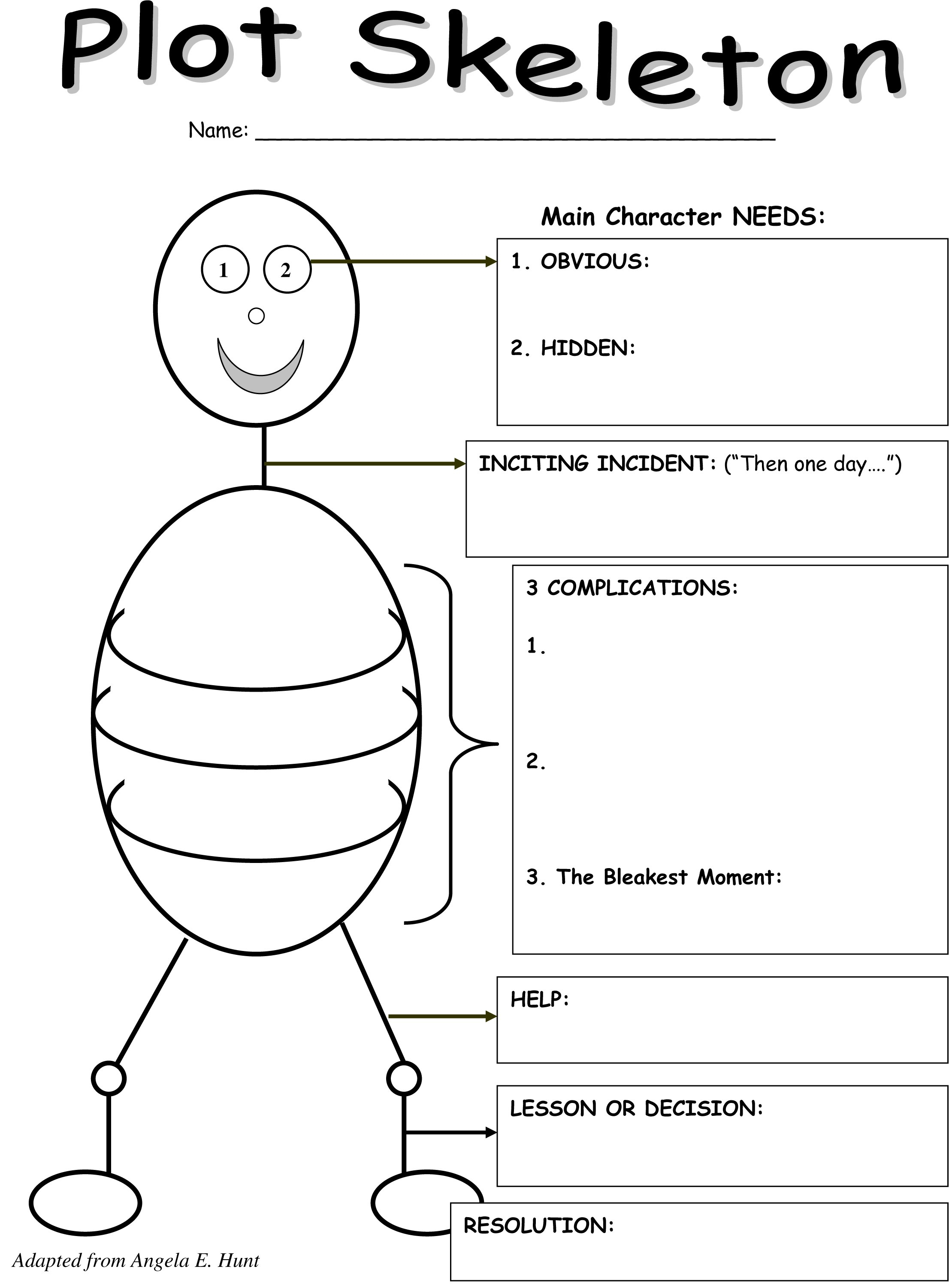 The Plot Thickens A Graphic Organizer For Teaching Writing  A Regarding Story Skeleton Book Report Template