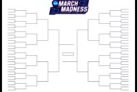 The Printable March Madness Bracket For The  Ncaa Tournament intended for Blank March Madness Bracket Template