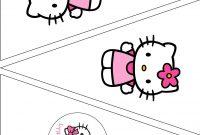 The Vintage Farmhouse Hello Kitty Party  Free Printables  Hello pertaining to Hello Kitty Banner Template