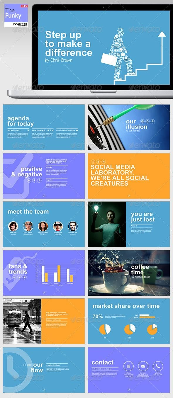 Thefunky Powerpoint Template  Business Powerpoint Templates With Regard To Multimedia Powerpoint Templates