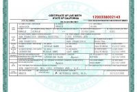 This Is San Francisco Birth Certificate Template On This Template with regard to Certificate Of License Template