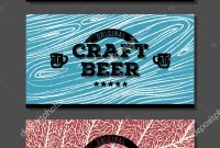 Three Craft Beer Label Templates With Different Natural Textures regarding Craft Label Templates