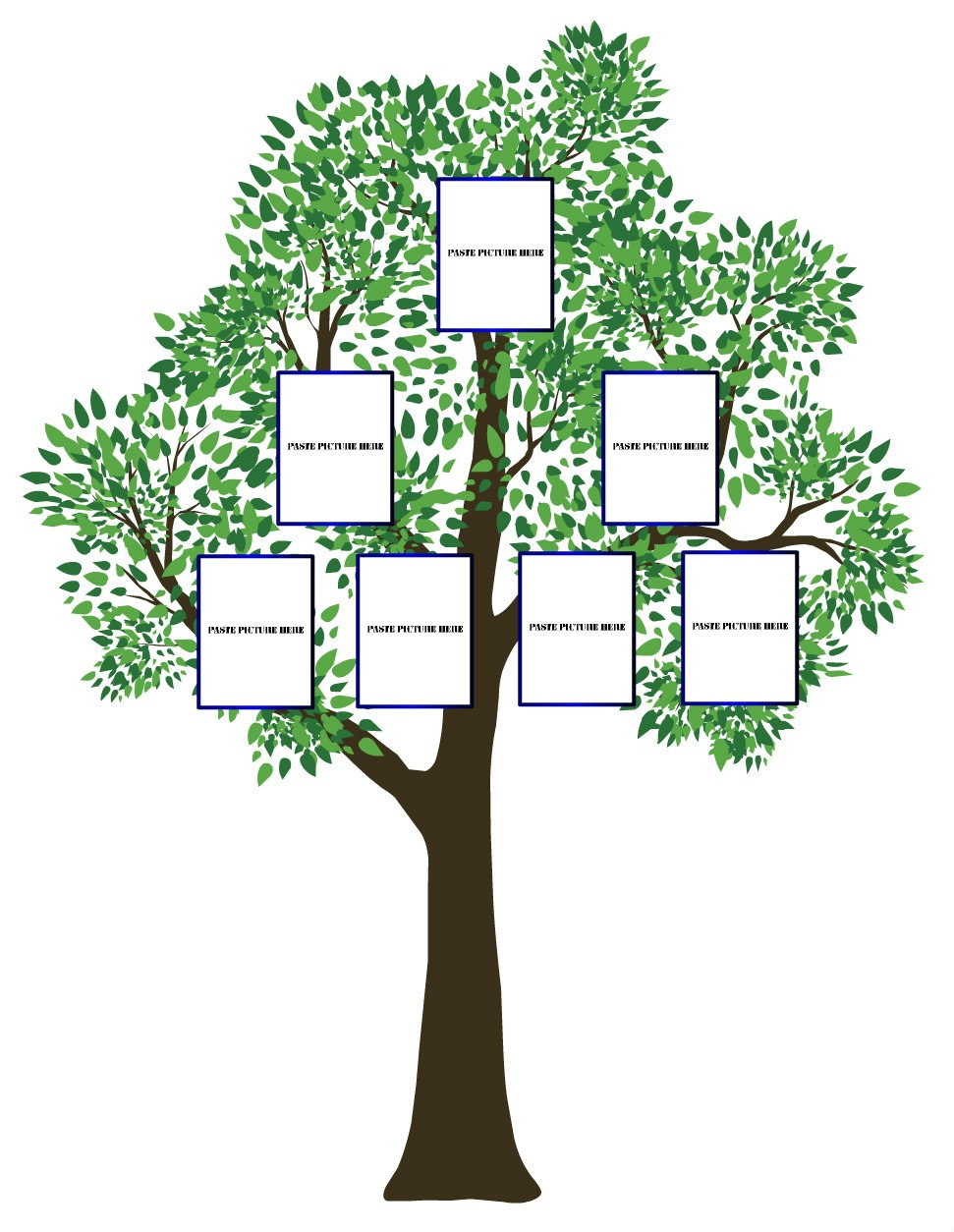 Three Generation Family Tree Templates Images  Clip Art Library Inside Blank Family Tree Template 3 Generations
