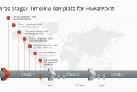 Three Stages Timeline Template For Powerpoint  Slidemodel within What Is A Template In Powerpoint