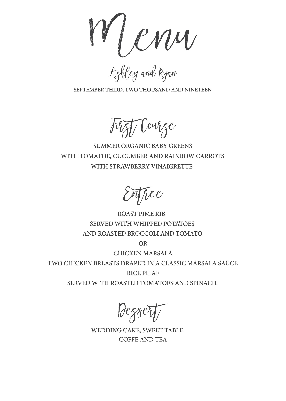 Timeless And Simple Wedding Invitation  Freebies  Free Printables Regarding Free Printable Menu Template