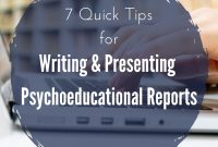 Tips For Psychoeducational Reports Writing And Presenting  The With Psychoeducational Report Template
