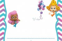 Tips Pretty Bubble Guppies Invitations Design For Your Party Ideas inside Bubble Guppies Birthday Banner Template